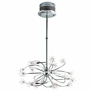 Star shaped chandelier wayfair starburst 24 light sputnik chandelier aloadofball Image collections