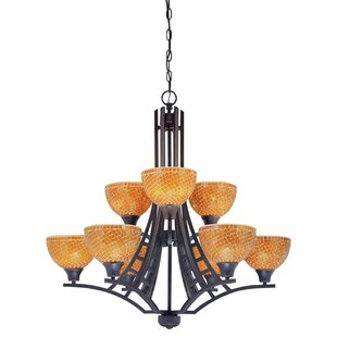 Dolan Designs Venicia 9-Light Shaded Chandelier