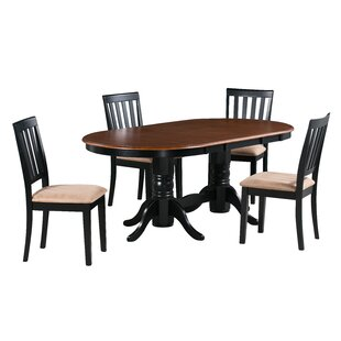 Amari 5 Piece Extendable Solid Wood Dining Set