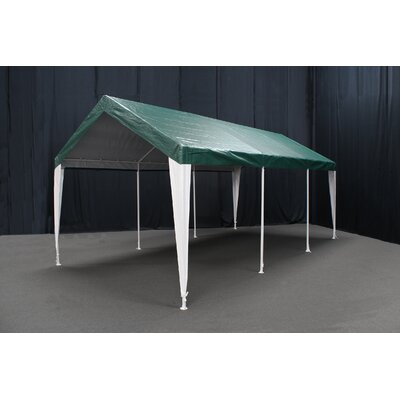 Hercules 11 Ft. W x 20 Ft. D Steel Party Tent King Canopy Roof Color: Green