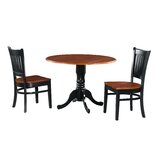 Shorewood 3 Piece Drop Leaf Solid Wood Dining Set by August Grove®