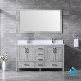 Michaella 60 Double Bathroom Vanity Set with Mirror by Wrought Studio™