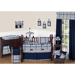 Plaid 9 Piece Crib Bedding Set