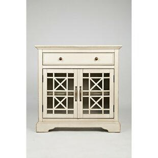 Darrel Fretwork Wooden 2 Door Accent Cabinet by Charlton Home