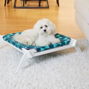 Triangles Designer Pet Lounge Cot with Reversible Fabric Hammock