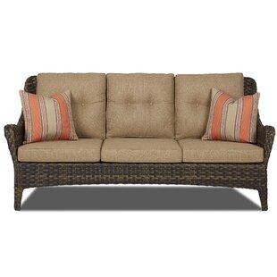 Rouse Patio Sofa with Cushion by Fleur De Lis Living