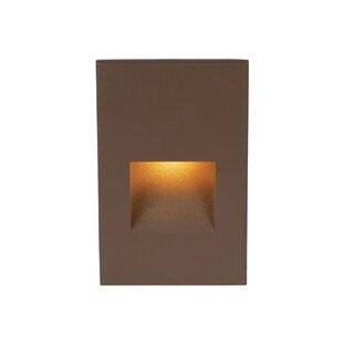 WAC Lighting Rectangular Scoop 1 Light Step Light