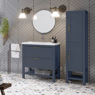 Gambill 810mm Free-standing Single Vanity Unit By Ebern Designs