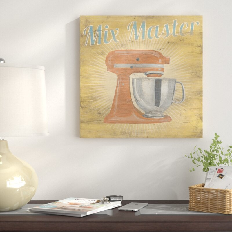 East Urban Home \'Hip Kitchen III\' Graphic Art Print on Canvas ...