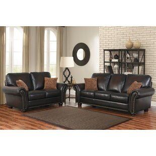 Darby Home Co Fallsburg 2 Piece Leather L..