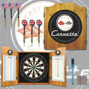 Corvette Dart Cabinet in Black By Trademark Global