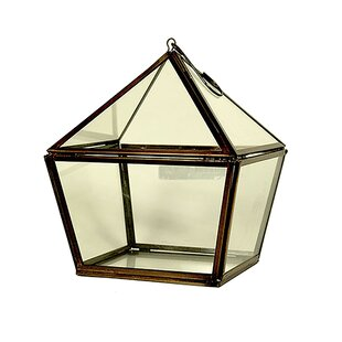 Hanging Glass/Metal Lanter..