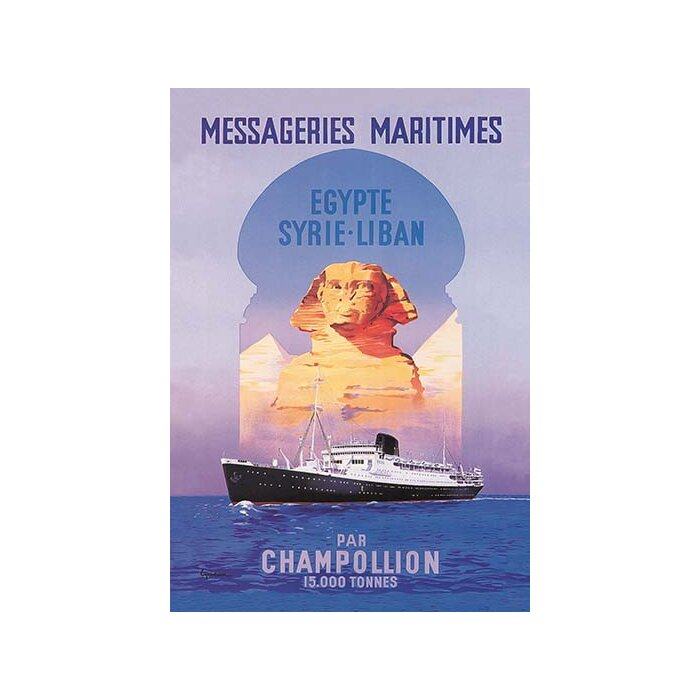 MESSAGERIES MARITIMES VINTAGE TRAVEL POSTER Cruise