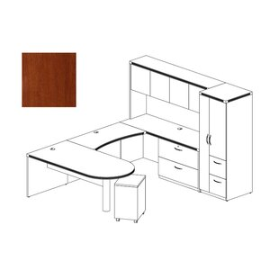 Mayline Group Aberdeen 4-Piece Series U-Shape Desk Office Suite