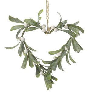 Mistletoe Heart 8' Wreath By The Seasonal Aisle