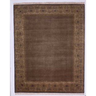 Great choice Guruvayoor Hand-Knotted Black Area Rug ByMeridian Rugmakers