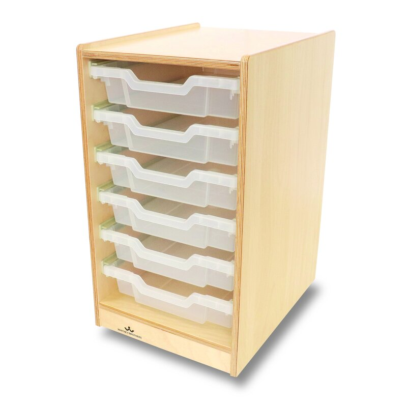 Whitney Bros Single 6 Compartment Cubby With Casters Wayfair