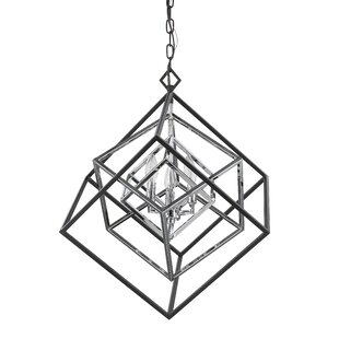 Brayden Studio Pederson 3-Light Geometric Chandelier