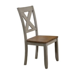 August Grove Wonderly Back Side Solid Wood Dining Chair (Set of 2)