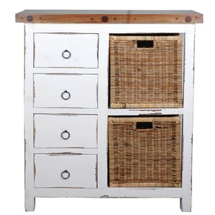 Wellfleet Whitewashed Accent Cabinet