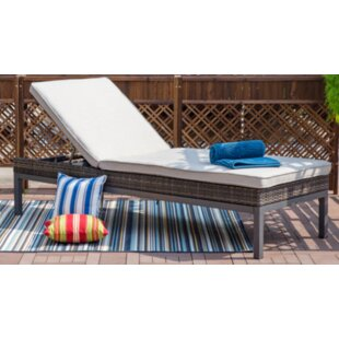 Ivy Bronx Hendon Patio Reclining Chaise Lounge with Cushion