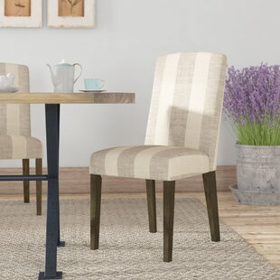Gage Back Parsons Upholstered Parsons Chair (Set of 2) Gracie Oaks