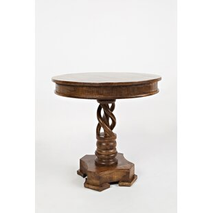 Astoria Grand Goodridge Hand Carved Round Solid Wood Dining Table