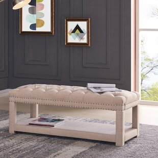Karlton Upholstered Storage Bench by Alcott Hill