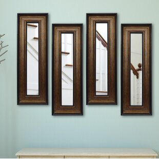 Charlton Home 4 Piece Kincannon Panels Mirror Set (Set of 4)