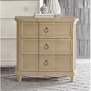 Carrie 3 Drawer Nightstand by One Allium Way
