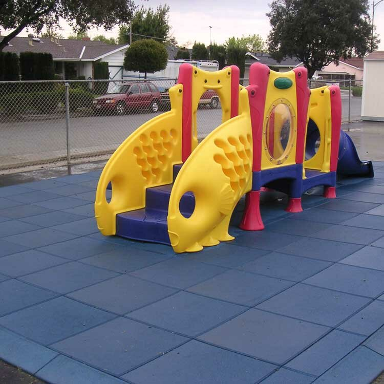 55 Square Feet Coverage Black 2.50 x 19.5 x 19.5 inch 20 Pack Rubber-Cal Eco-Safety Interlocking Playground Tiles
