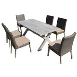 Hebron 7 Piece Dining Set with Cushions