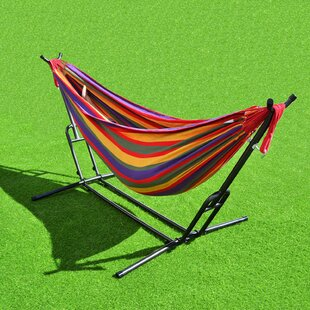 Freeport Park Bellamy Combo Steel Double Hammock with Stand