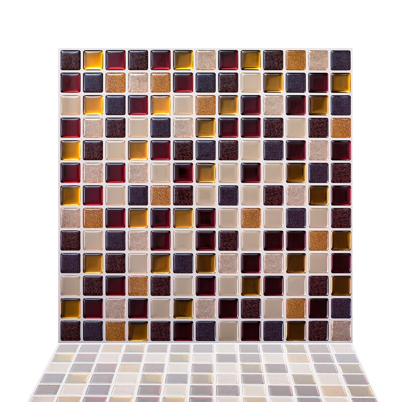 Tictactiles 12 X 12 Pvc Peel And Stick Mosaic Tile In Maple Reviews Wayfair