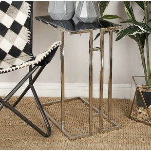 Metal and Glass End Table by Cole & Grey