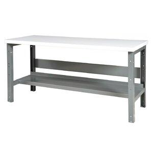 Adjustable Height Steel Top Workbench