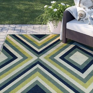 Amora Polypropylene Blue/Green Area Rug