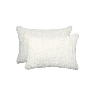 Sheba Mink Faux Fur Lumbar Pillow (Set of 2)
