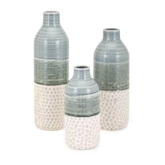 Bloomsbury Market 2 Piece Gloriette Copper Glass Table Vase Set Wayfair