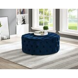 Gilbert Round Tufted Cocktail Ottoman by Rosdorf Park