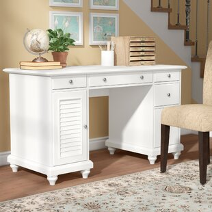 Midland Solid Wood Computer Desk by Three Posts