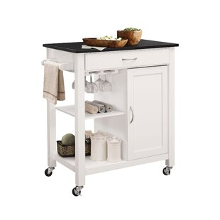 Lanier Kitchen Cart with MDF Top Rebrilliant