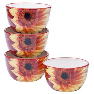 Paris Sunflower Ice Cream Bowl (Set of 4)