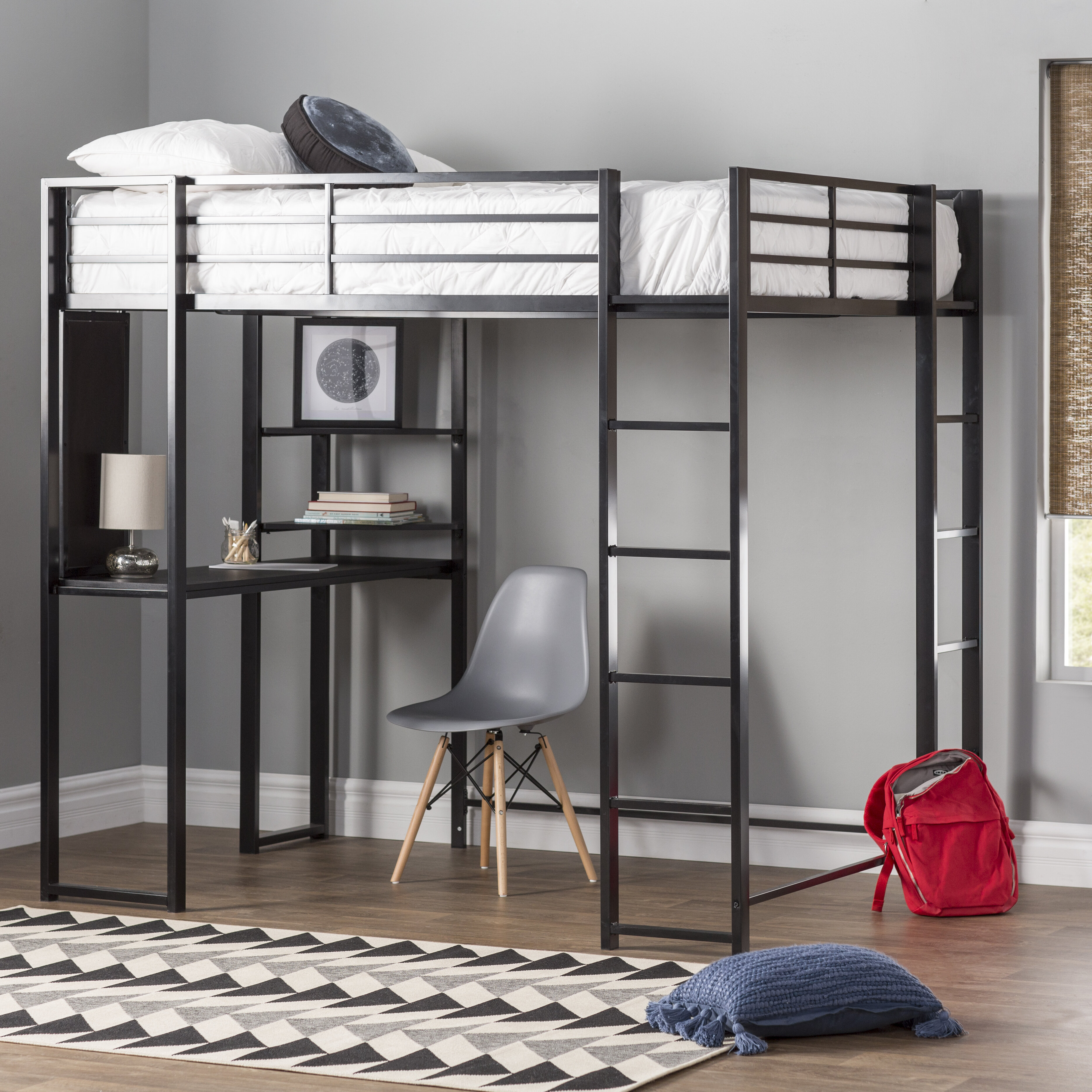 Mack Milo Aime Loft Bed With Bookcase Reviews