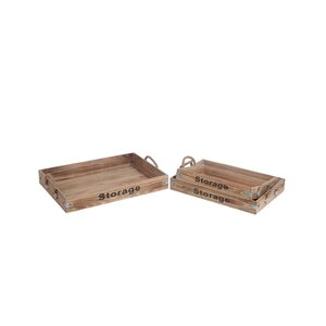 Yatesville 3 Piece Rectangle Wooden Tray Set