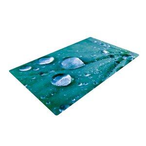 Iris Lehnhardt Water Droplets Teal/Aqua Area Rug
