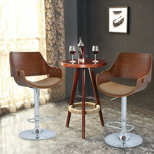 Alouette Bent Wood Swivel Bar Stool