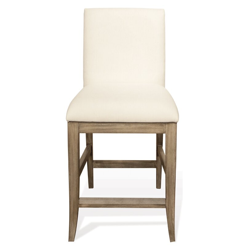 "Sophie Upholstery 24"" Bar Stool - Come discover more French Farmhouse Decor inspired by Fixer Upper and click here to Get the Look of The Club House Kitchen & Sun Room. #fixerupper #joannagaines #kitchendecor #frenchfarmhouse"