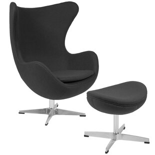 Langley Street Brennen Swivel Lounge Chair and Ottoman