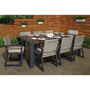 Wade Logan Minor 9 Piece Sunbrella Dining Set with Cushions